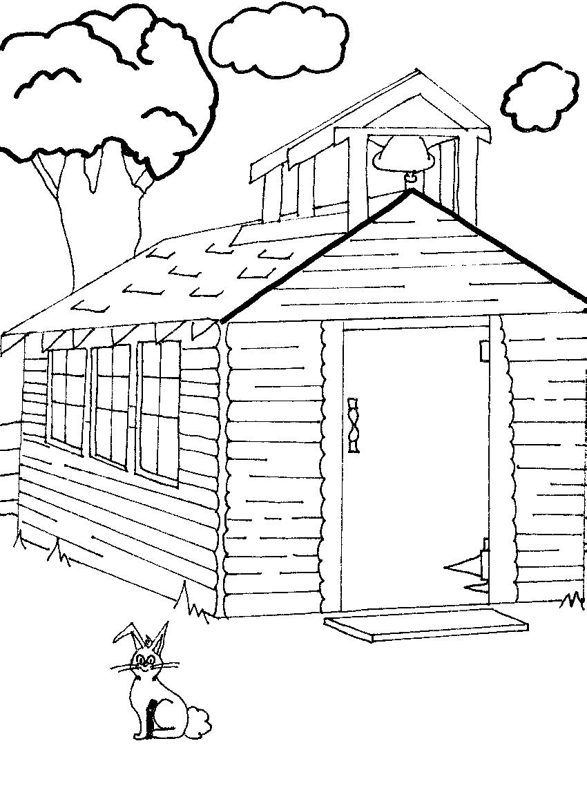 coloring pages old schoolhouse | Coloring Book Pages - Moon Farm